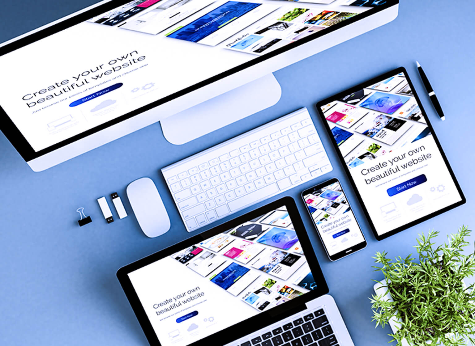 レスポンシブデザインのスマートフォン用のイメージ画像